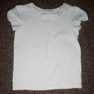 White tulle bow t-shirt